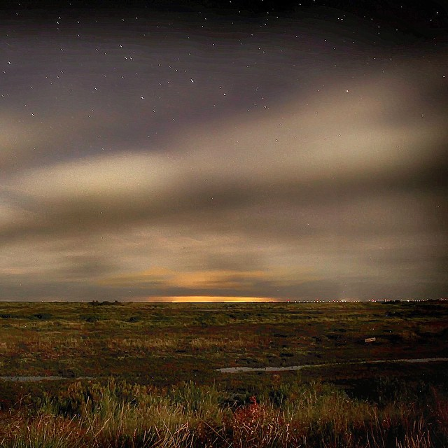 Northern Lights at Holme-next-the-Sea - photo &copy Ben Green Photography